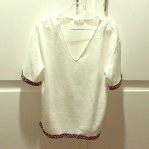 Zara White Tunic